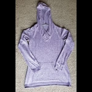 Athleta Olema lavender hooded pullover sweater